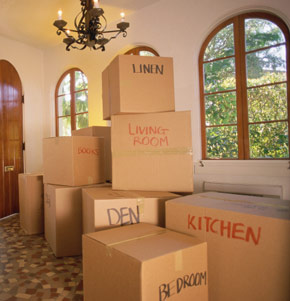 Columbus home full of moving boxes